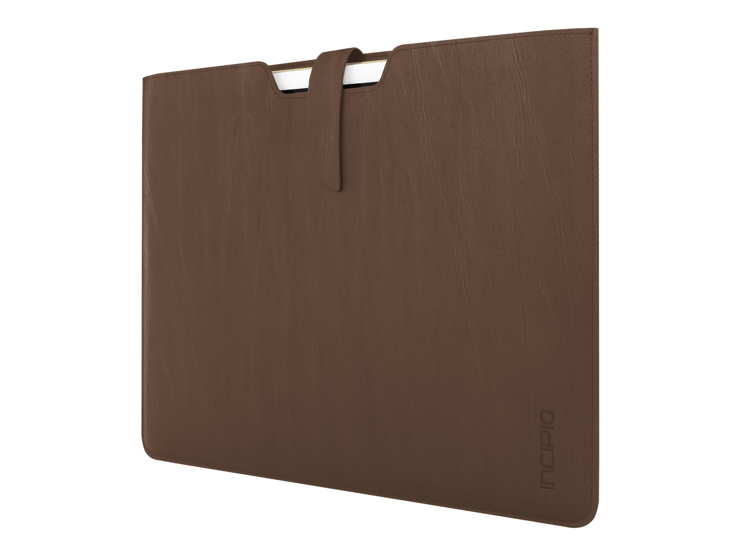Incipio Lunde Slim Vegan Leather Sleeve for iPad Pro 12.9, Brown