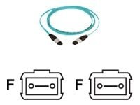 Panduit 12-Fiber Jumper Cable, MTP-MTP, 50 125 Multimode, Aqua, 9m