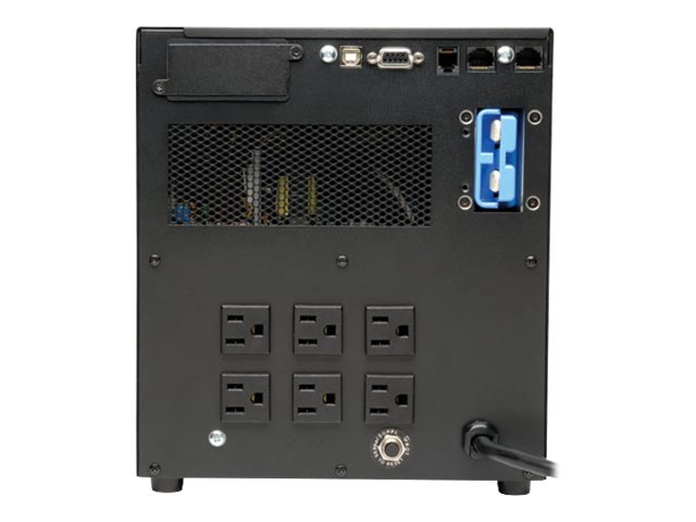 Tripp Lite SmartOnline 1.5kVA Online Double Conversion UPS, Tower, Interactive LCD, 120V (6) NEMA 5-15R Outlets, SU1500XLCD