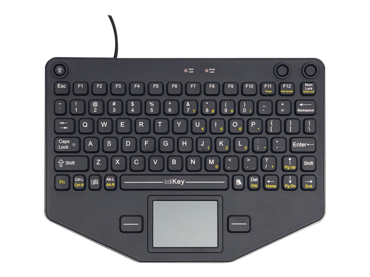 iKEY Rugged Keyboard, Integrated Backlight, Touchpad, Integrated VESA, SL-80-TP-USB