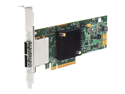 LSI 8-Port 6Gbs SAS+SATA PCIe 3.0 Low-Profile HBA, LSI00300, 30821088, Host Bus Adapters (HBAs)