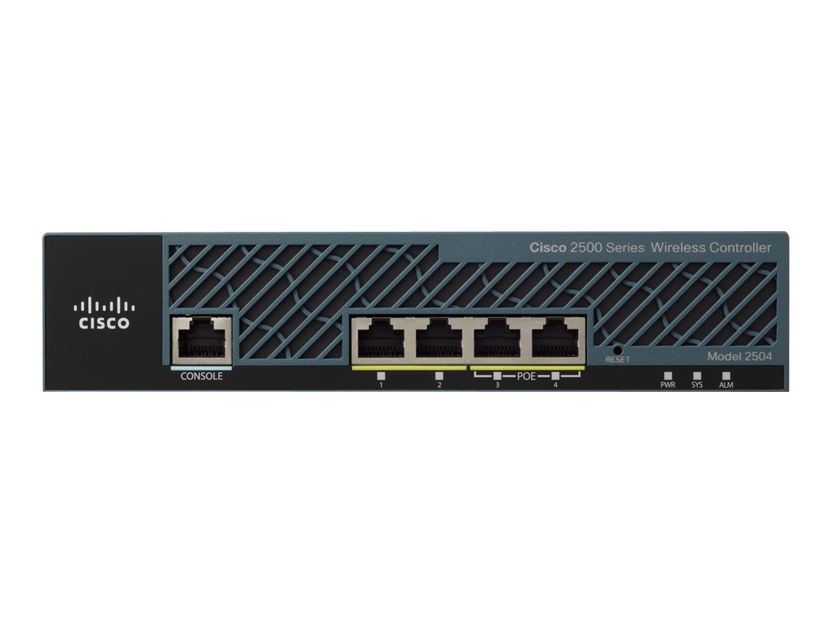 Cisco 4-Port One 2504 Wireless Controller, C1-AIR-CT2504-K9, 31083021, Wireless Access Points & Bridges
