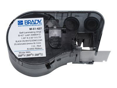Brady 2.5 x 1 Self-Laminating Labels, M-51-427, 17466501, Paper, Labels & Other Print Media