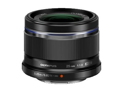 Olympus M.Zuiko Digital 25mm f 1.8 Lens, Black, V311060BU000, 16793181, Camera & Camcorder Lenses & Filters