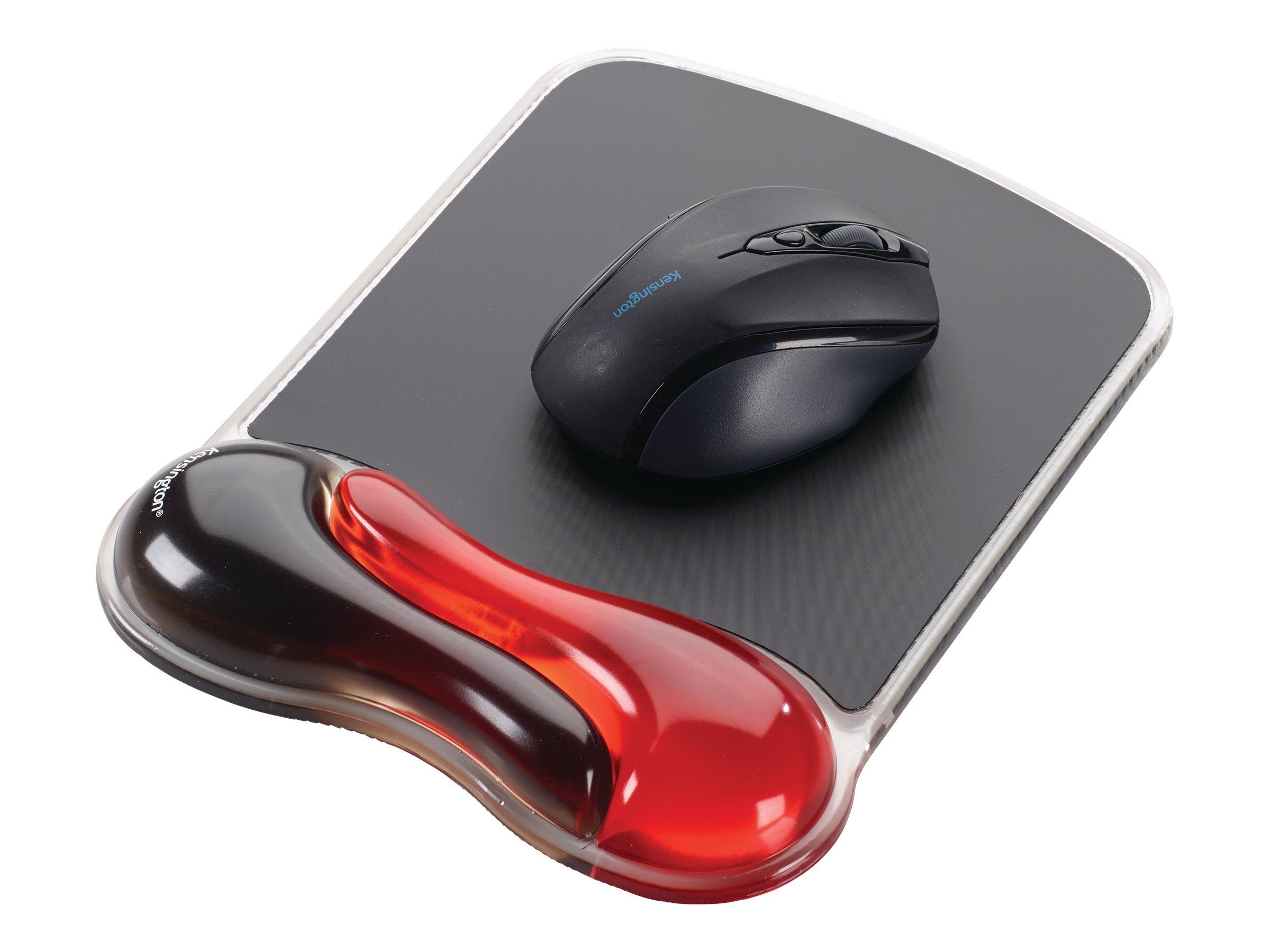 Kensington Duo Gel Wave M Wrist Rest for Mouse, Red