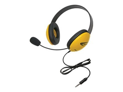 Califone Listening First Stereo Headset - Yellow, 2800YL-AV, 31472502, Headphones