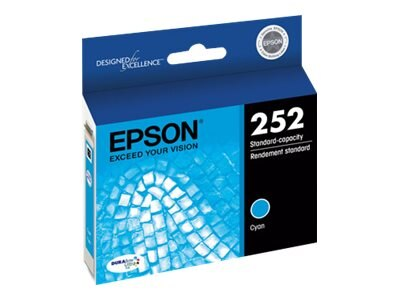 Epson T252 Durabrite Ultra Cyan Ink Cartridge, T252220