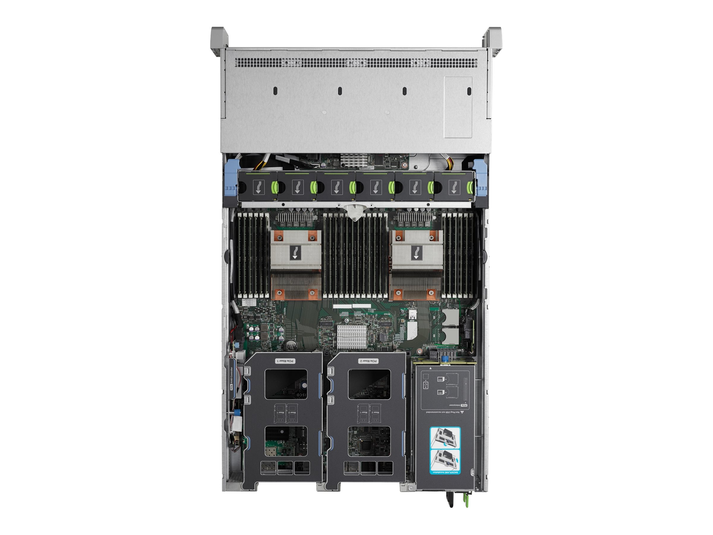 Cisco UCS C240 M4S (2x)E5-2650 v4 2x32GB MRAID 2x1200W 32GB SD Rails, UCS-SPR-C240M4-BA2