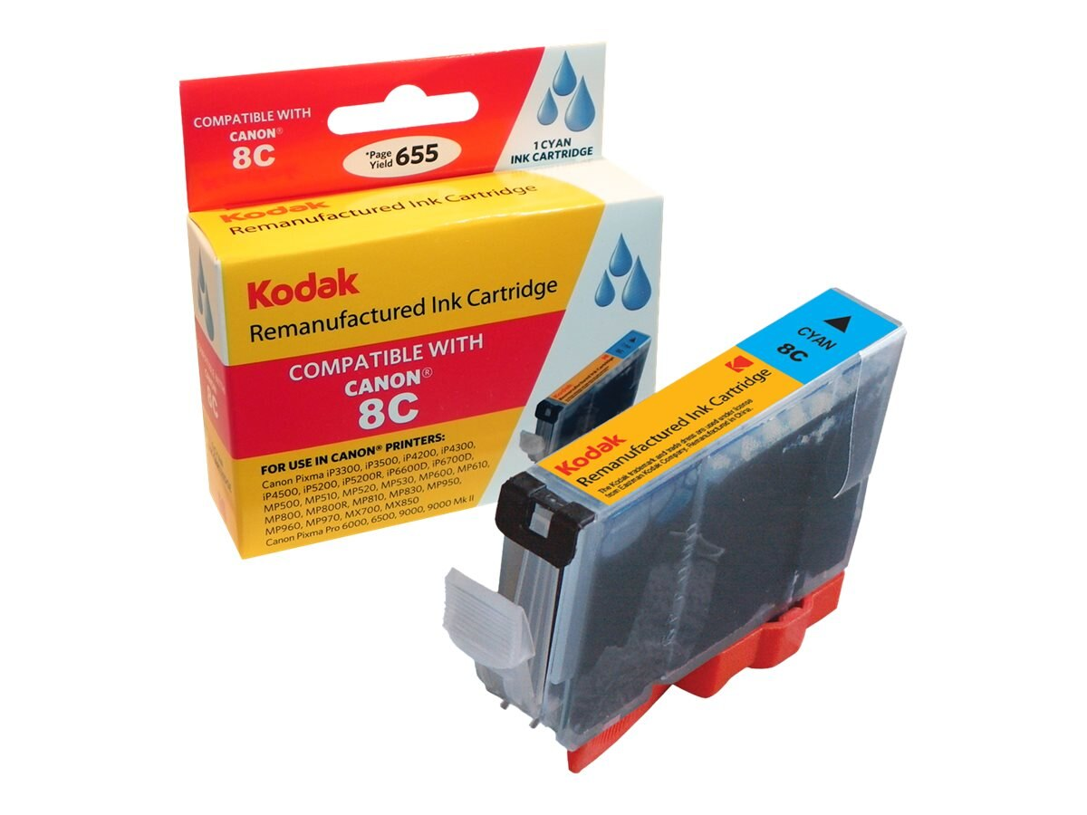 Kodak CLI-8C-KD Cyan Ink Cartridge for Canon Pixma iP4200