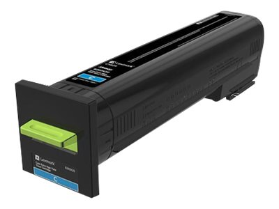 Lexmark Cyan Extra High Yield Toner Cartridge for CX825 Series, 82K0X20