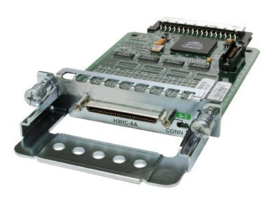 Cisco 1800 2800 3800 series 8-Port Asynchronous High-Speed WAN Interface Card, HWIC-8A=, 5798939, Network Device Modules & Accessories