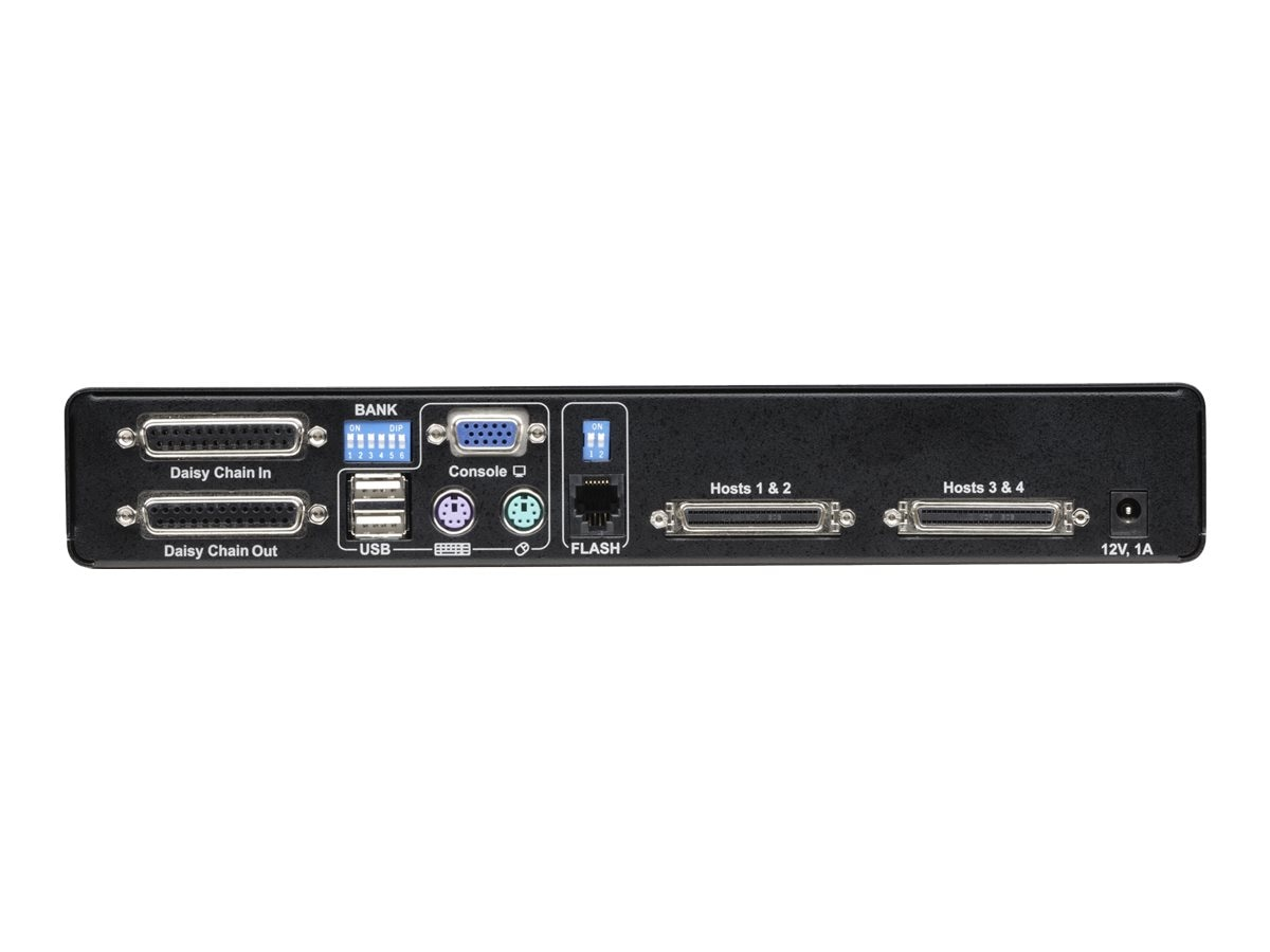 Belkin 4-Port PRO3 KVM Switch with USB and PS 2, F1DA104Z