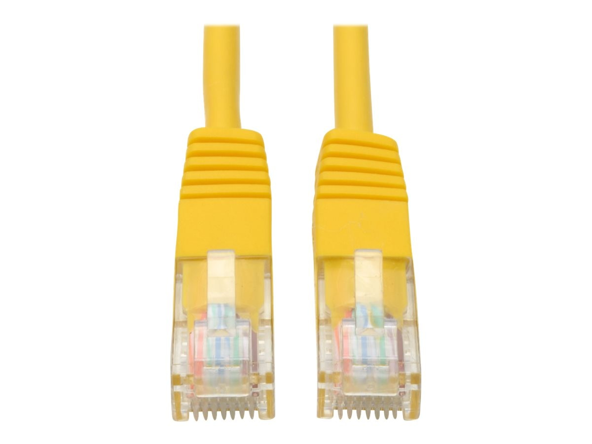Tripp Lite Cat5e RJ-45 M M 350MHz Molded Patch Cable, Yellow, 15ft, N002-015-YW