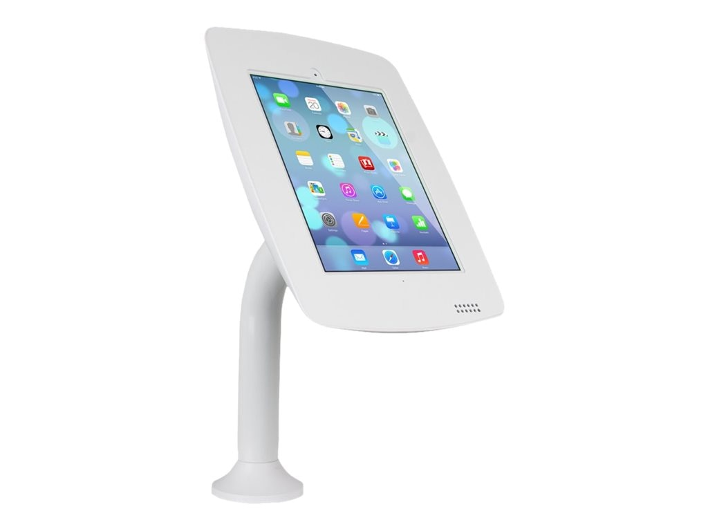 Joy Factory Elevate Aloft Countertop Mounted Kiosk with iPad Air Air 2, iPad 2 3 4, White