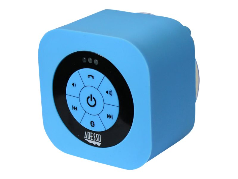 Adesso Waterproof Bluetooth Speaker - Blue