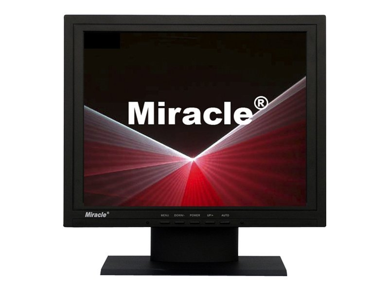 Miracle Business 15 LT15K Analog LCD Monitor with Speakers, Black, LT15K, 8749551, Monitors - LCD