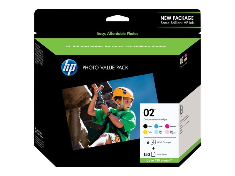 HP 2 (Q7964AN) 6-Pack Black Cyan Magenta Yellow Lt Cyan Lt Magenta Original Ink Cartridges w Photo Pape, Q7964AN#140, 6370918, Paper, Labels & Other Print Media