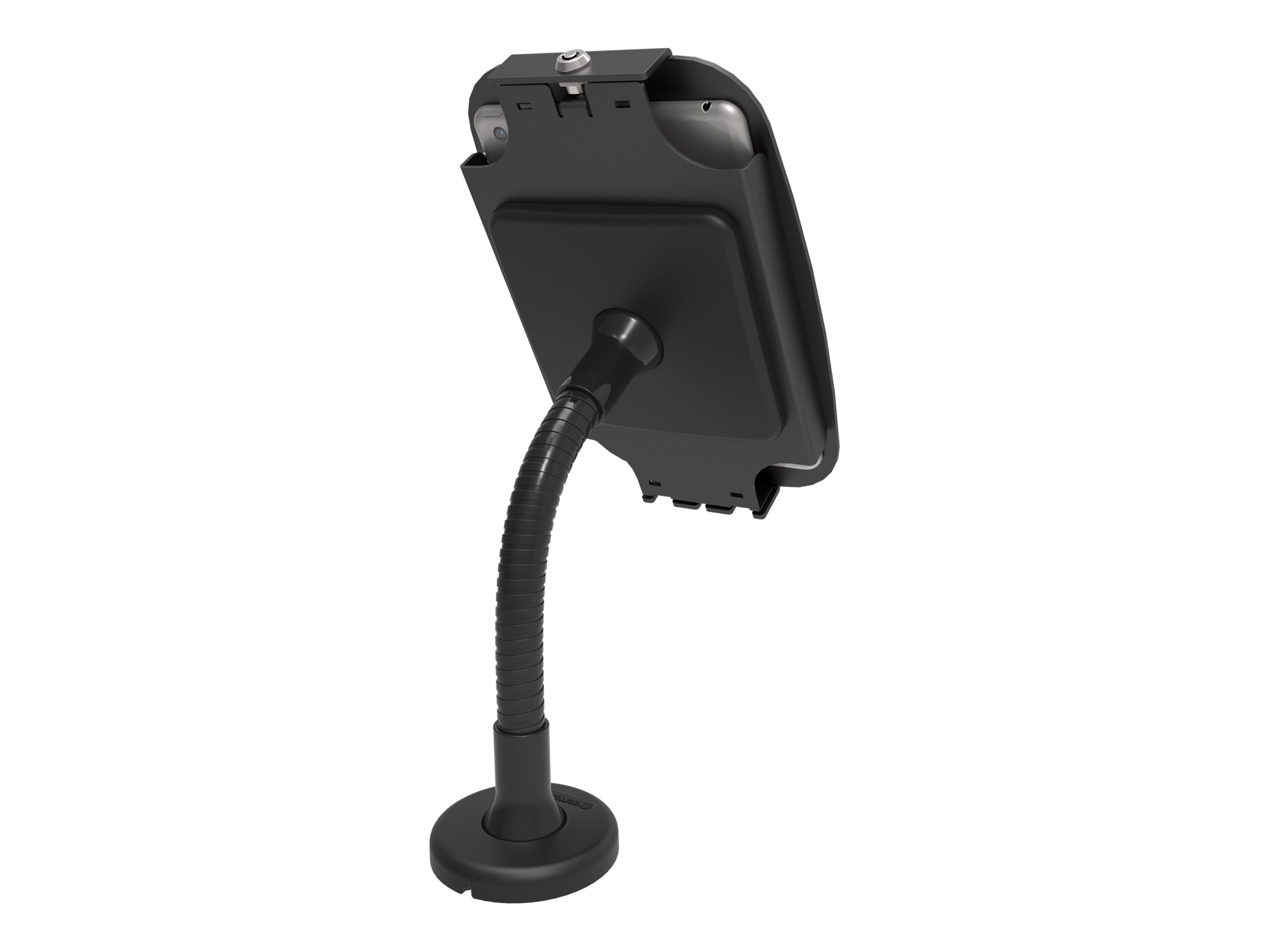 Compulocks Surface Pro 3 Space Enclosure with Tablet Kiosk Flexible Arm Mount, Black, 159B530GEB