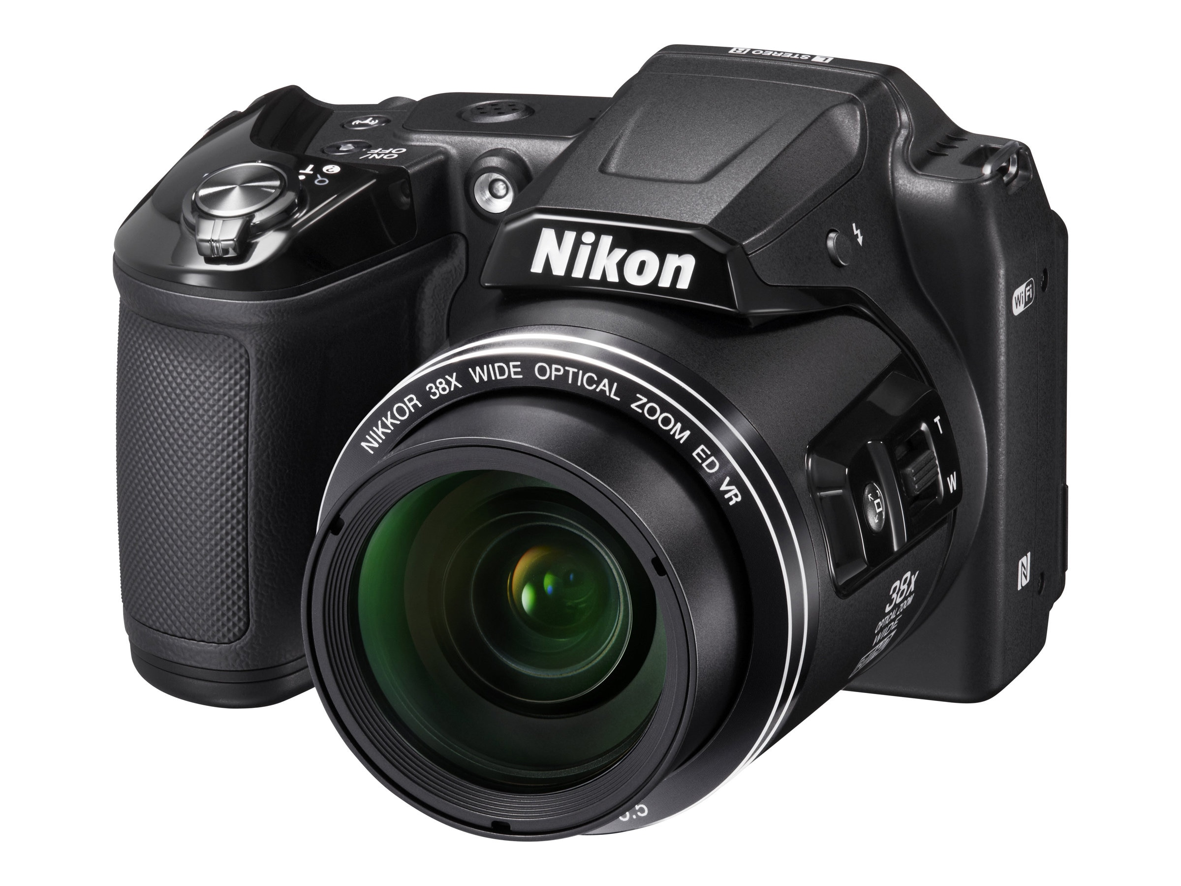 Nikon COOLPIX L840 Digital Camera, 16MP, Black, 26485, 21013450, Cameras - Digital - Point & Shoot