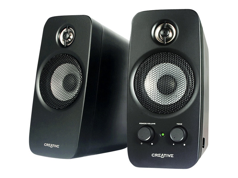Creative Labs Inspire T10 Speakers, Black, 51MF1601AA000, 8292757, Speakers - Audio