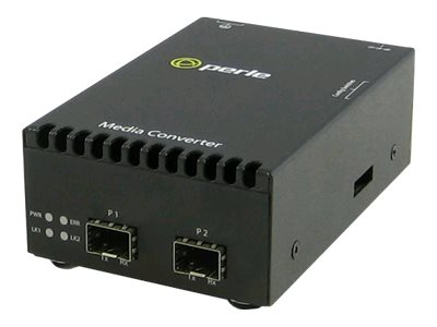 Perle 10 Gigabit Ethernet Stand-alone Media Converter with dual SFP+ slots (empty), 05060504, 14775261, Network Transceivers