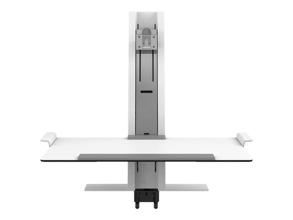 Humanscale QuickStand with Single Monitor Support and Heavy Clamp, White