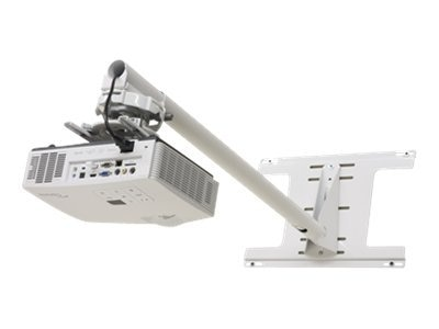 Optoma Dual Stud Universal Short Throw Wall Mount with Telescoping Arm, White