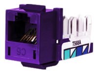 Hubbell Cat6 1-Port Jack, Purple (25-pack)