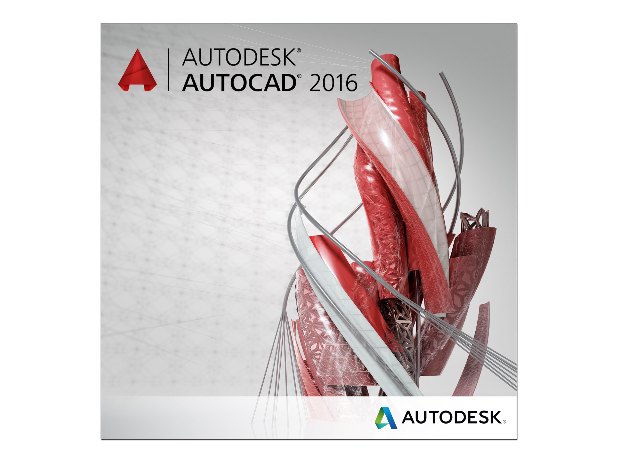 Autodesk Corp. AutoCAD 2016 DVD Unserialized Media Kit, 001H1-G251T1-L001, 30575489, Software - CAD