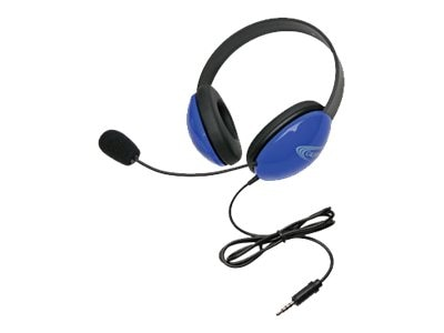 Stereo Headphones w  To Go 3.5mm Plug via ErgoGuys - Blue, 2800-BLT, 17584962, Headsets (w/ microphone)