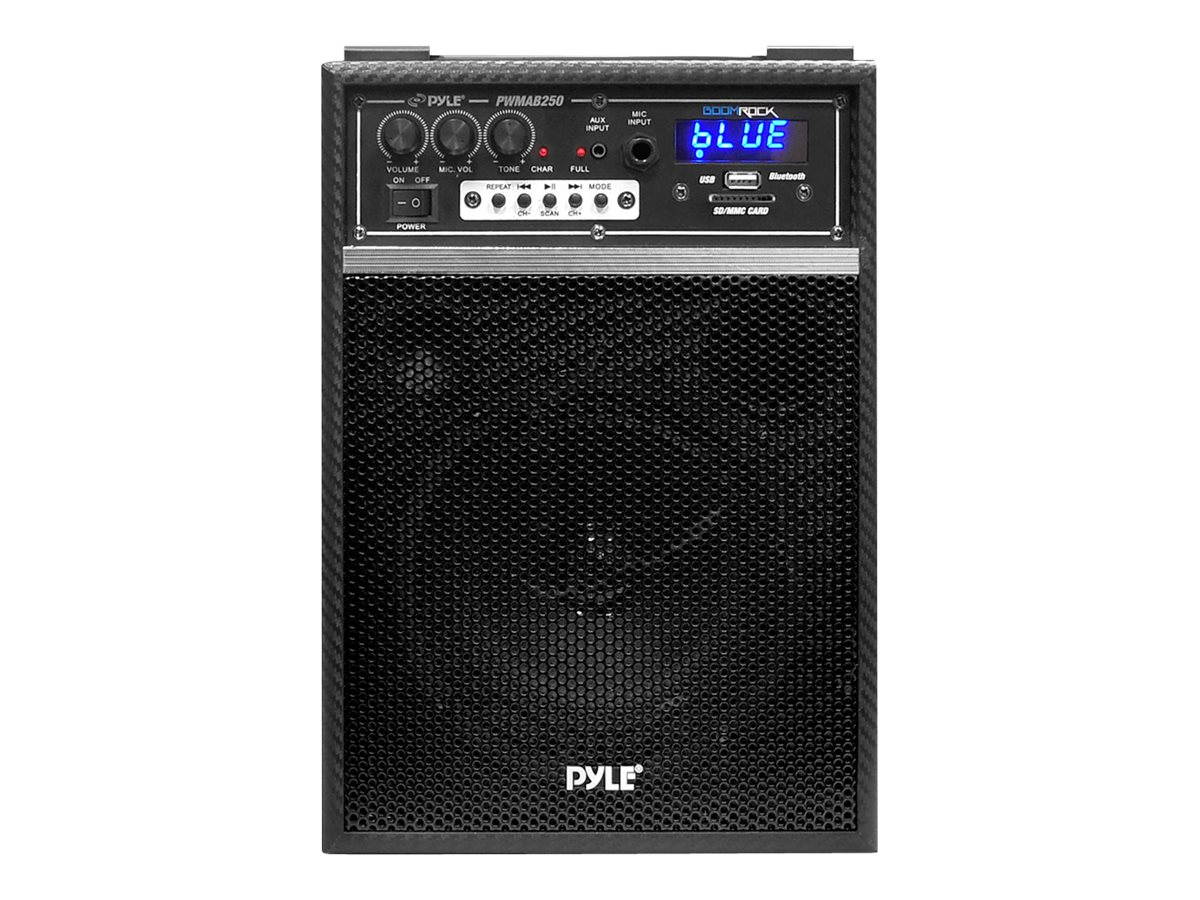 Pyle Boom Rock Bluetooth 6.5 300W Portable PA Speaker System - Black