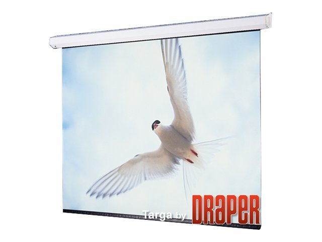 Draper Targa Motorized Projection Screen, Matte White, 4:3, 100 with Low Voltage Controller, 116015LP, 14455313, Projector Screens
