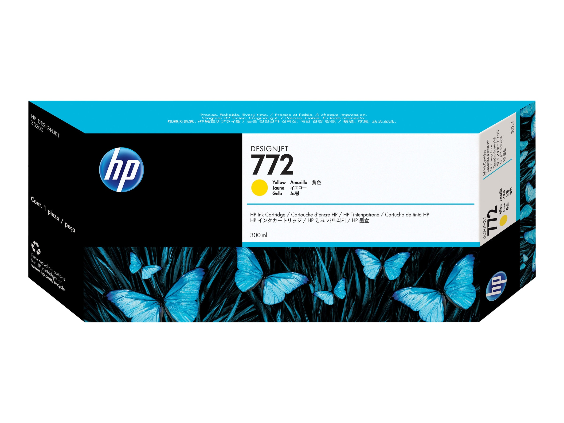 HP 772 Yellow 300ml Ink Cartridge, CN630A
