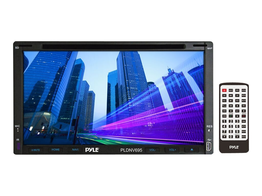Pyle Double DIN In-Dash 7 Touch Screen TFT LCD Monitor, PLDNV695B