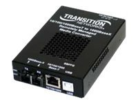 Transition 10 100 1000B-T to 1000BLX Extended MM SC Media Converter, SBFFG1024-105-NA, 12256505, Network Transceivers