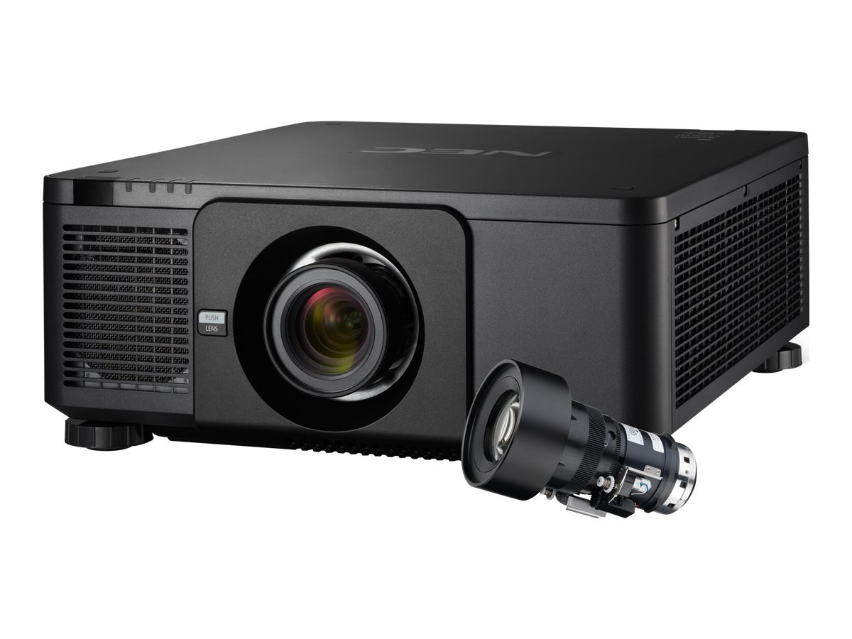 NEC PX1004UL WUXGA DLP Projector, 10000 Lumens, Black with NP18ZL Zoom Lens
