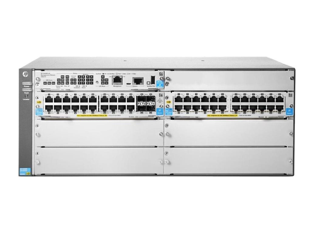 HPE 5406R-44G-PoE+ 4SFP (No PSU) v2 zl2 Switch, J9824A, 17439693, Network Switches