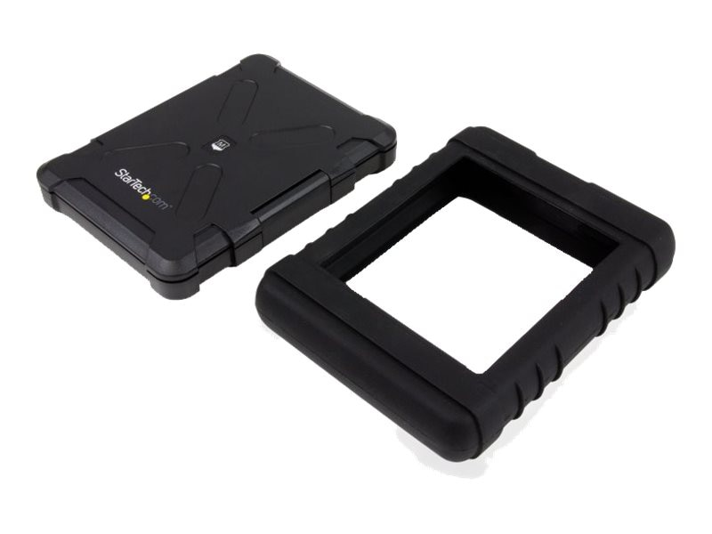 StarTech.com USB 3.0 to 2.5 SATA 6Gb s Rugged Hard Drive or Solid State Drive Enclosure w  UASP, S251BRU33