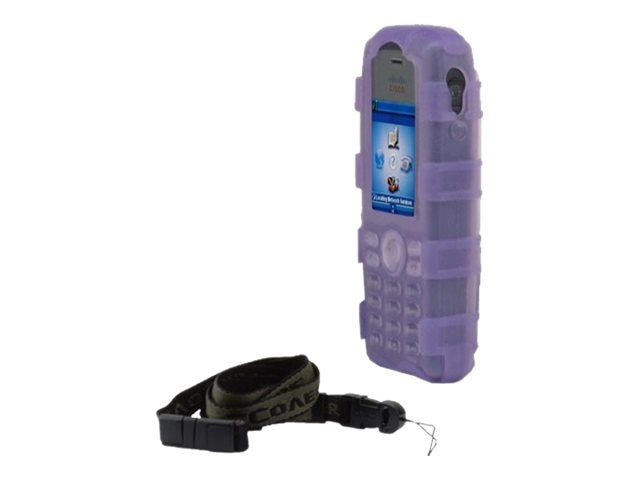 Zcover Silicone Back Open Dock-in-Case for Cisco 7925G 7925G-EX, Purple, CI925BDU, 16579459, Carrying Cases - Phones/PDAs