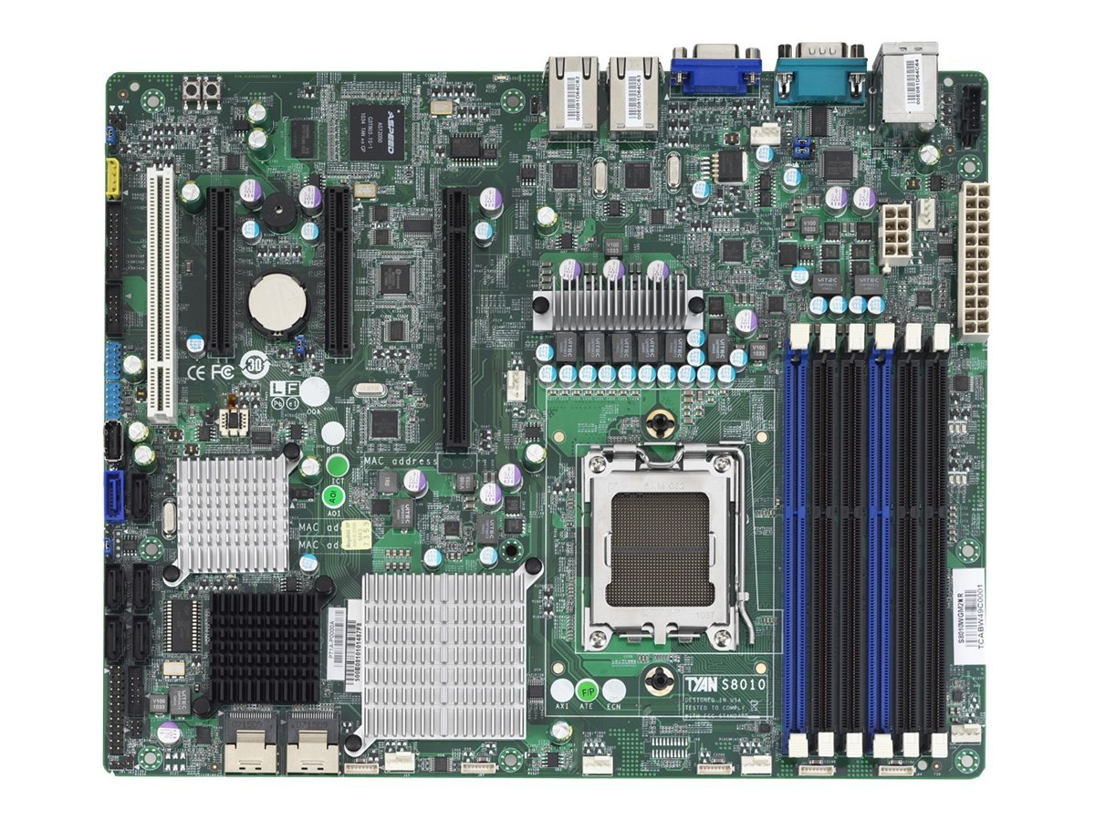 Tyan Motherboard, S8010 AMD SR5670+SP5100 ATX (1x)Opteron 4100 4200 Family Max.64GB DDR3 6xSATA 3xPCIe