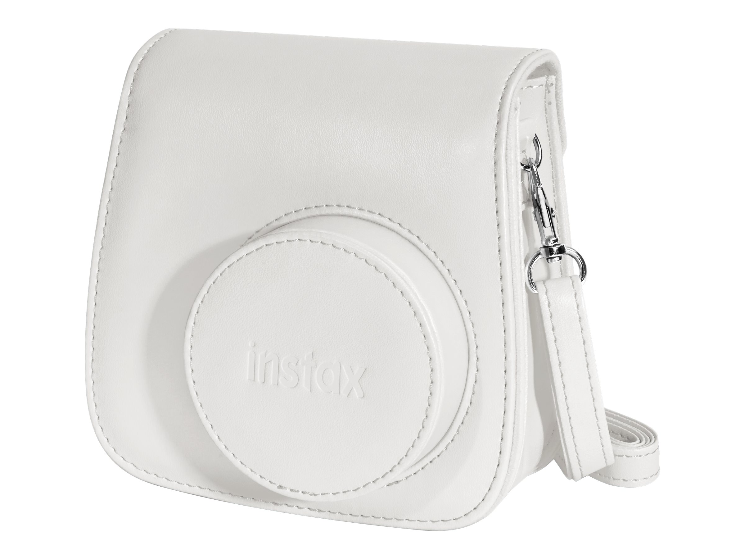 Fujifilm Instax Groovy Camera Case w  Shoulder Strap for Instax Mini 8 Instant Camera, White, 600015375