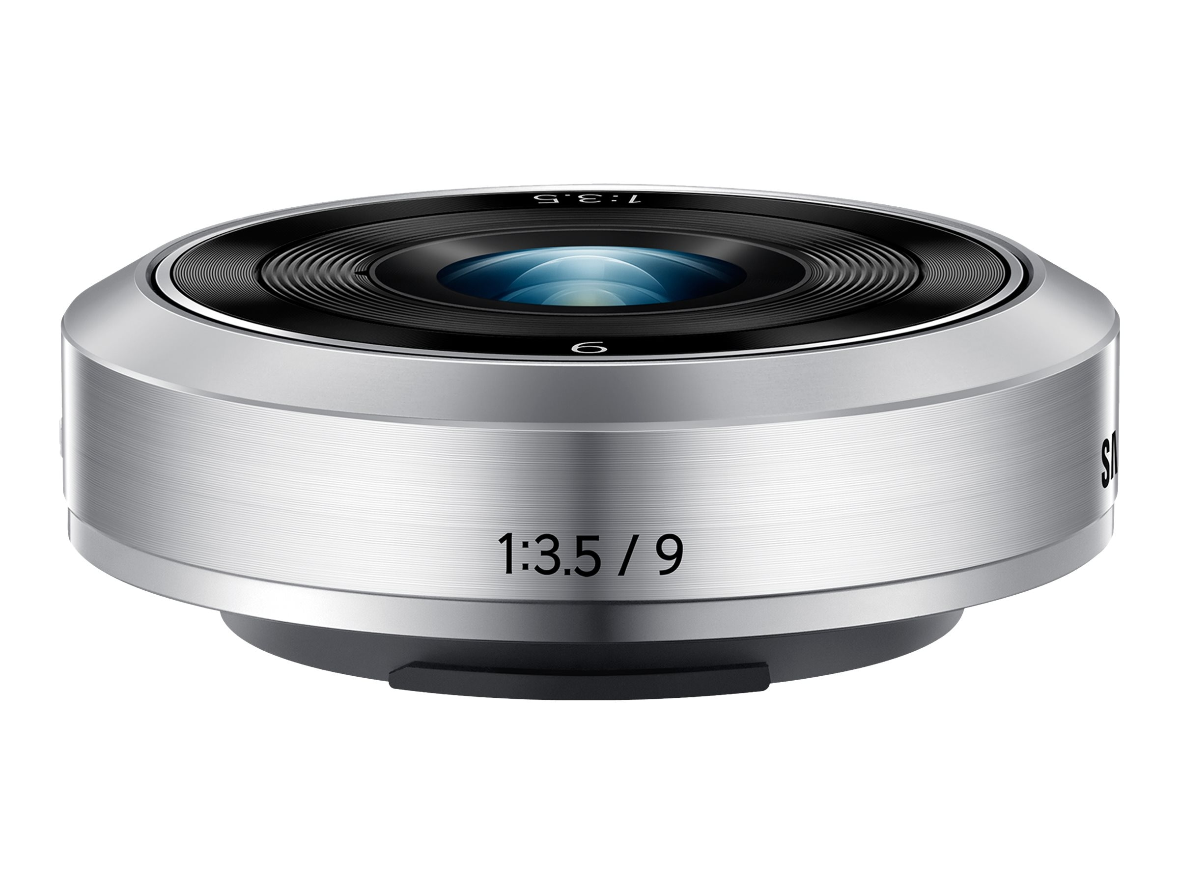 Samsung NX-M 9mm f 3.5 ED Lens, Silver, EX-YN9ZZZZASUS, 18743769, Camera & Camcorder Lenses & Filters