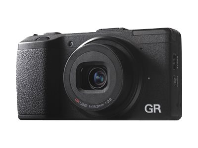 Pentax Ricoh GR Digital Camera, 16.2MP, Black, 175743, 17033642, Cameras - Digital - Point & Shoot