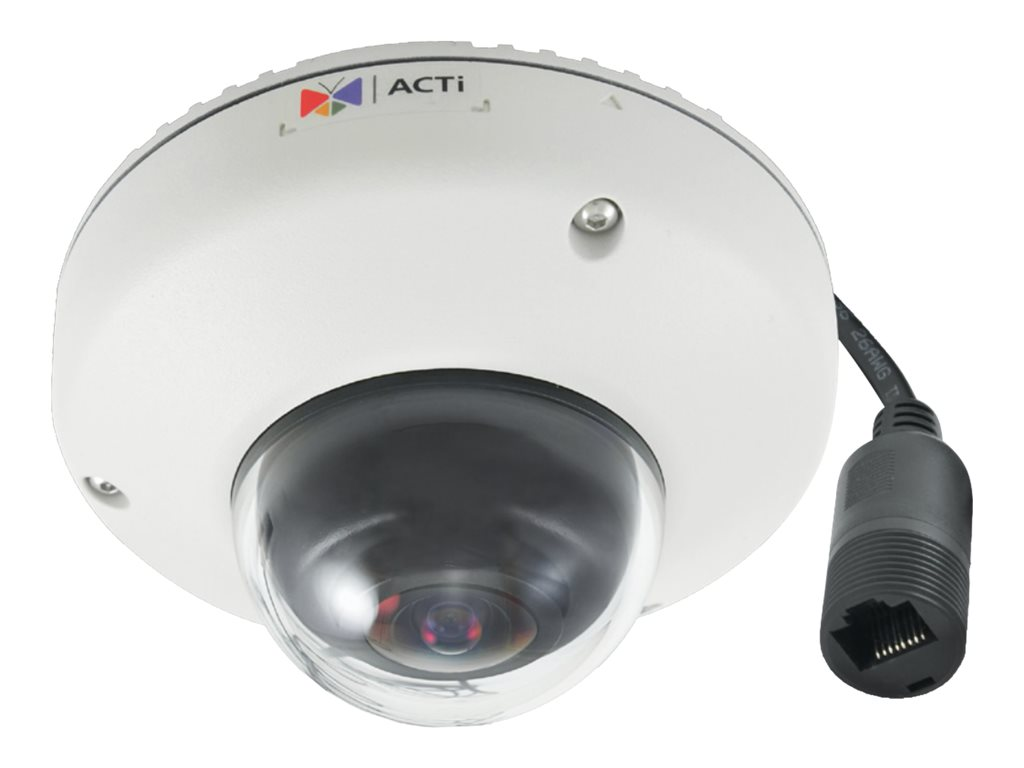 Acti 3MP Outdoor Mini Fisheye Dome with Superior WDR, Fixed Lens, E919
