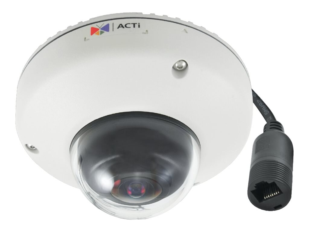 Acti 3MP Outdoor Mini Fisheye Dome with Superior WDR, Fixed Lens