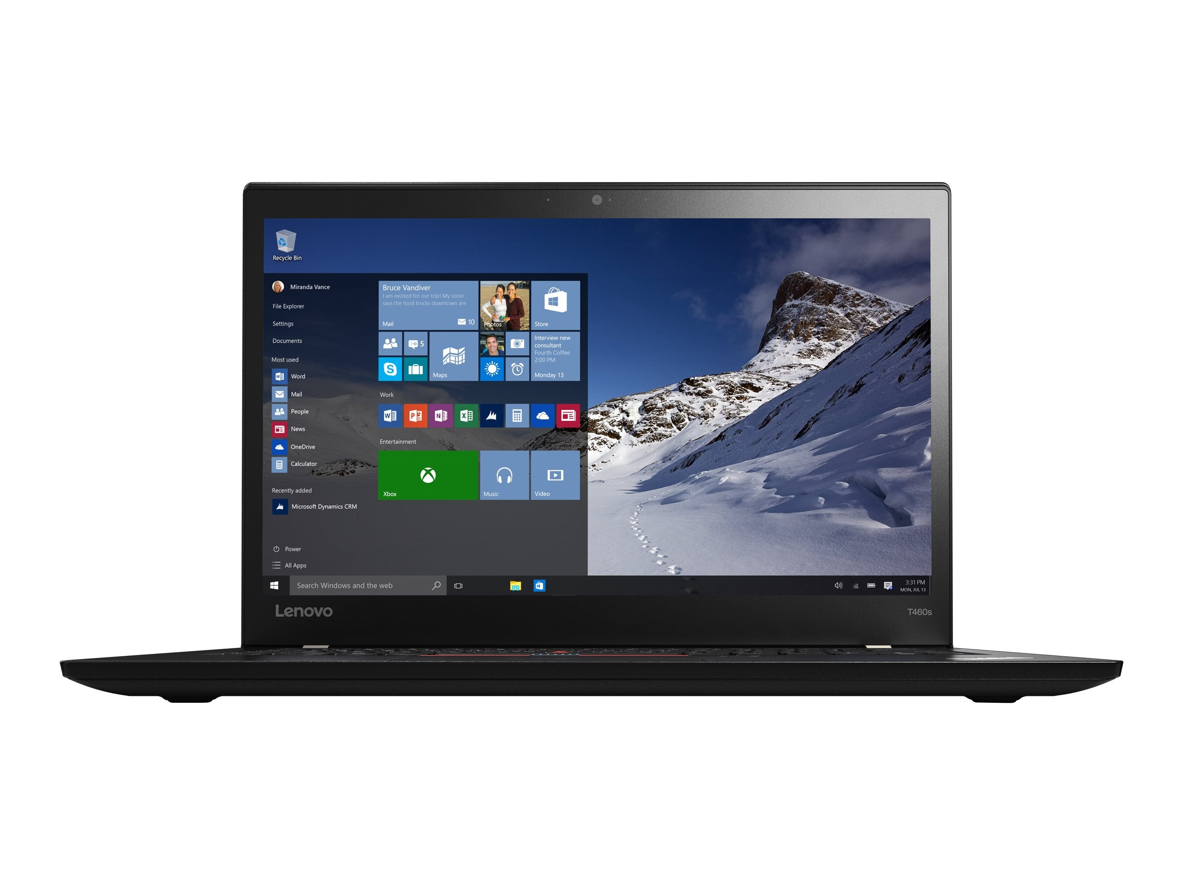 Lenovo TopSeller ThinkPad T460s 2.6GHz Core i7 14in display, 20F9003CUS, 31158636, Notebooks