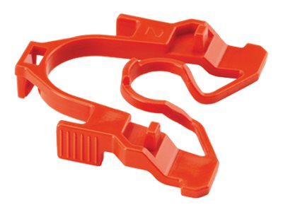 Panduit 8-Position QuickNet Plug Pack Lock-in Device, Red, 10-Pack