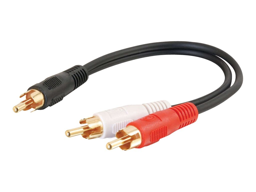 C2G Value Series RCA Plug To RCA Plugs x 2 Y-Cable 6, 03161, 6960352, Cables