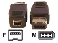 Micro Connectors FireWire 1394 6pin (M) to 4pin (F) Adapter, G08-230, 12967964, Adapters & Port Converters