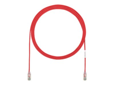 Panduit CAT6 UTP Copper Patch Cord, Red, 7ft